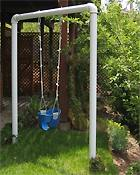 diy swing from pvc pipe playscapes