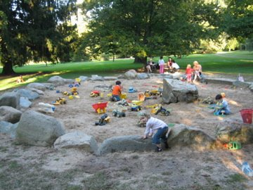 Marquand Park Sandpit Princeton New Jersey Playscapes