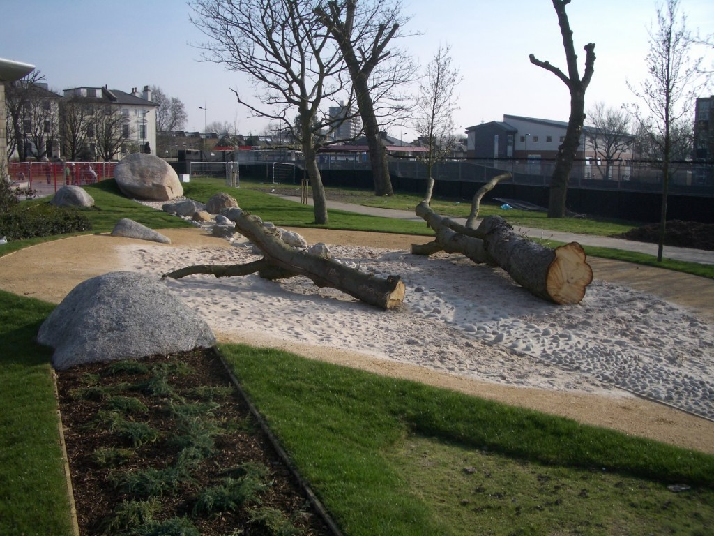 Cantelowe 39 s park playground camden farrer huxley 2009 playscapes - Natural playgrounds for children ...
