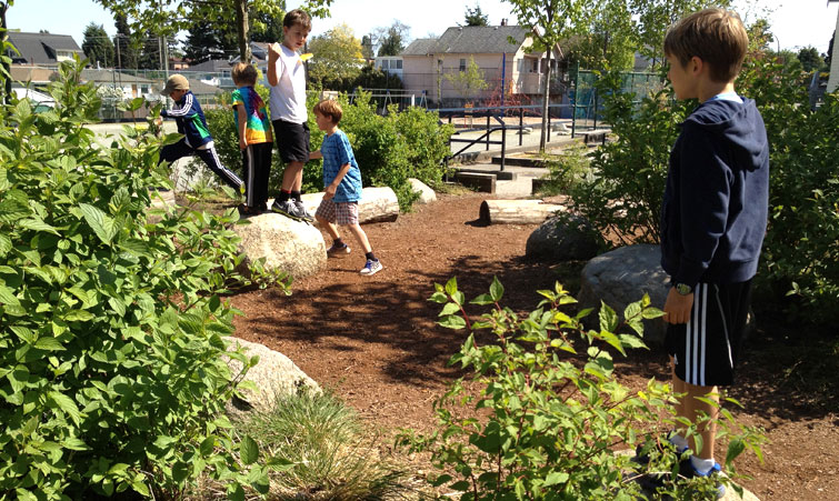Brock elementary school natural playscape with cost information skala design vancouver - Natural playgrounds for children ...