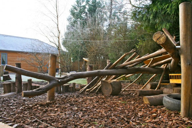 Denbuilding frames for natural playgrounds  Playscapes