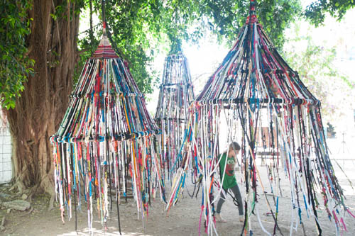 Play Tents Community Art Installation Noa Meir and Tali Buchler Zichron Yaakov Israel 2012 & Play Tents Community Art Installation Noa Meir and Tali Buchler ...