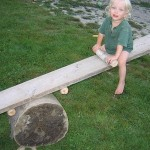 stump seesaw natural playground playscape plain and joyful living blog1