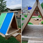 recycled door playhouse by earthscape playground DIY3