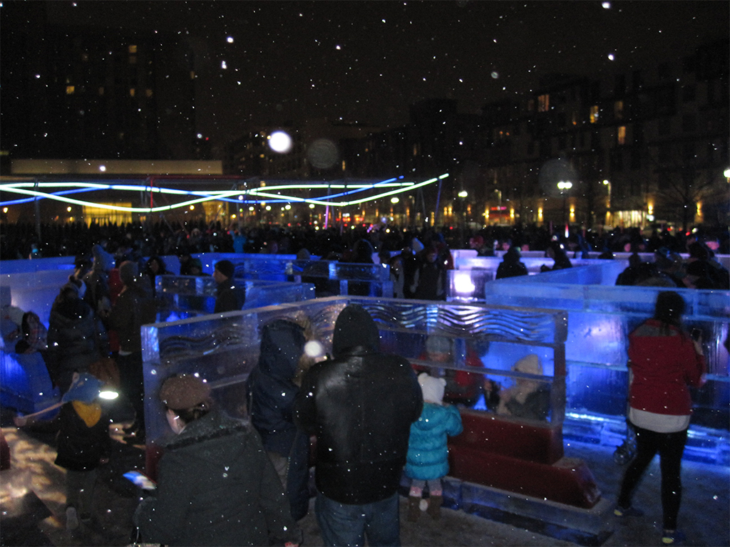 Ice Labyrinth At The Lawn On D Boston 2015 Playscapes