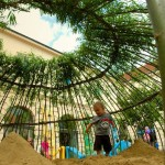 woven willow house sandpit natural playground playscape ppag1