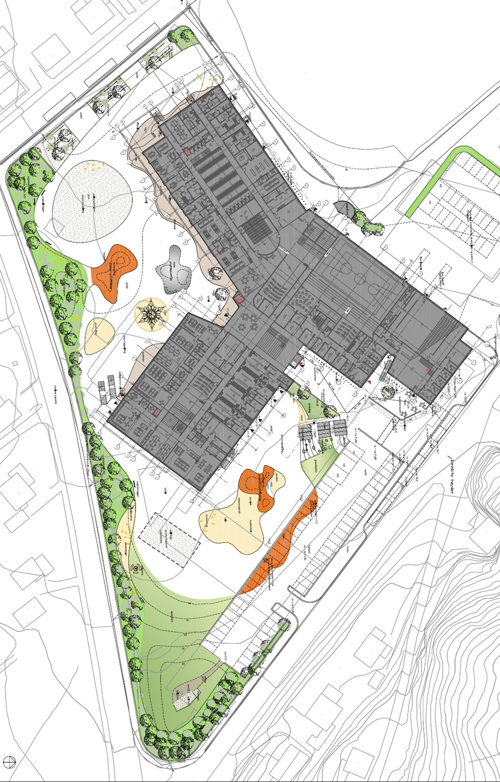 kirkenes school playground playscape site plan