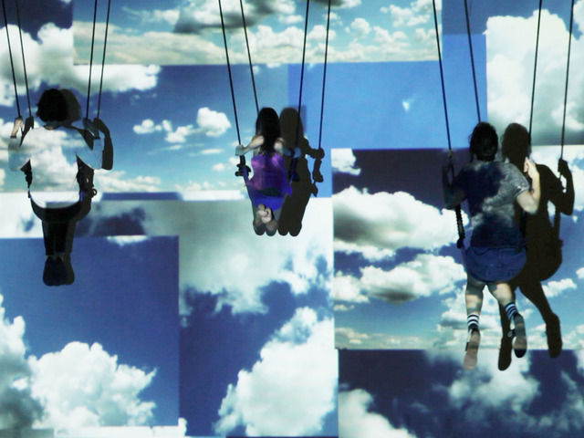 swing art installation jillian mayer cloud swing