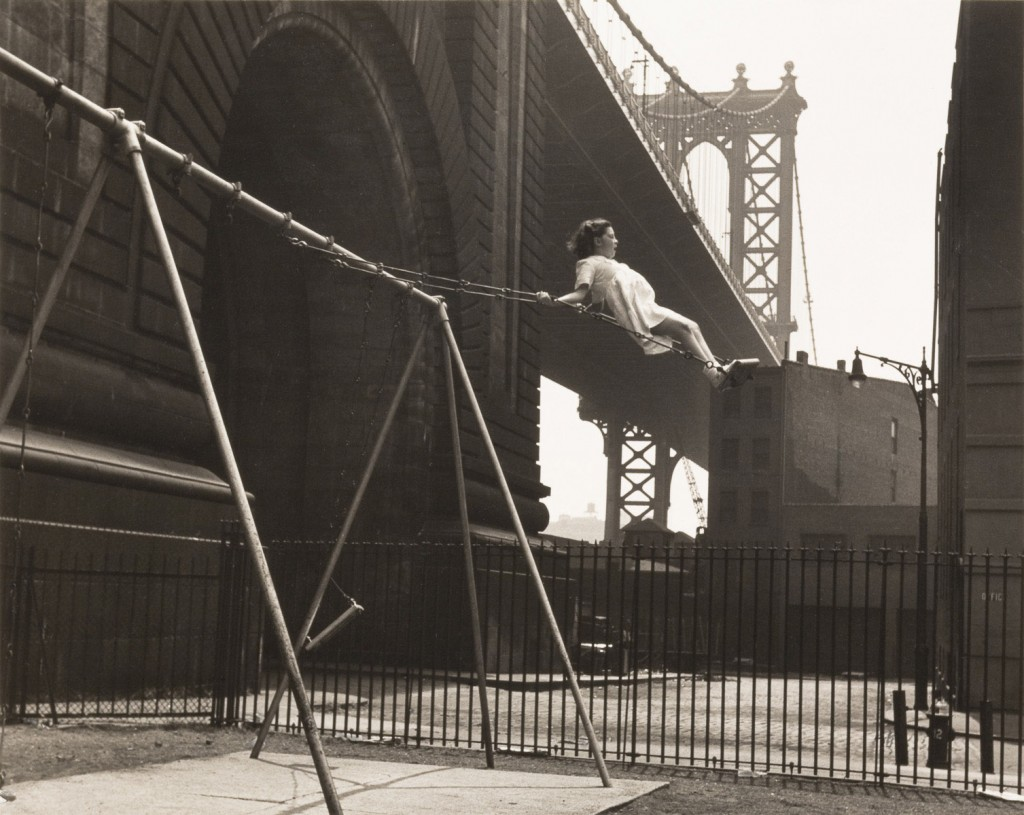 vintage playground walter rosenblum girl on a swing pitt st new york 1938