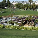 Koch Landscape Architecture. Overivew of Helen Diller Playground at Dolores Park  (2012), San Francisco