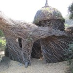 Patrick Dougherty. Peekaboo Palace (2012) at the Bay Area Discovery Museum,  Sausalito, CA.