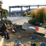 barker landscape architecture port edmonds plaza sandpit