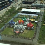 pentalum lawn on d boston temporary play installation inflatable playground art1