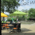 Sister Cities cafe and pond