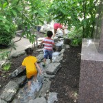 Sister Cities kids natural playground stream